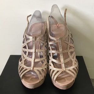Sparkly Rose Gold Vince Camuto Heels